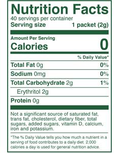 Zero Calorie Sweetener for Coffee & Tea
