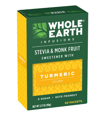 Whole Earth Infusions Stevia & Monk Fruit Sweetener with Turmeric