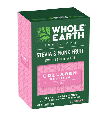 Whole Earth Infusions Stevia & Monk Fruit Sweetener With Collagen