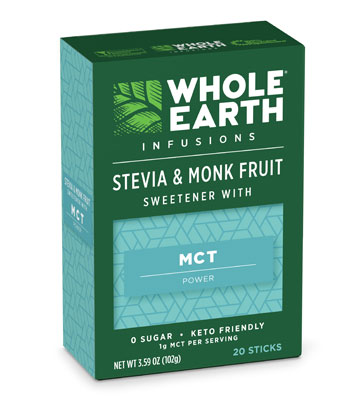 Whole Earth Infusions Stevia & Monk Fruit Sweetener With MCT